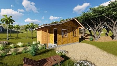 Casas pré fabricadas de um piso