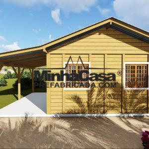Modelo de casas pre fabricada de madeira pop 1.0 - 1