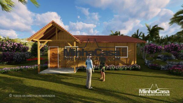 Casa pré fabricada de um quarto