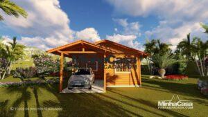 Casa de madeira de 2 quarto