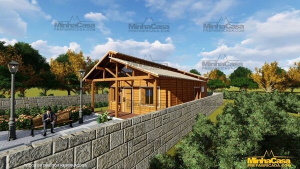 Casa de madeira Modelo Araquari 02