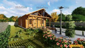 Casa de madeira Modelo Araquari 09