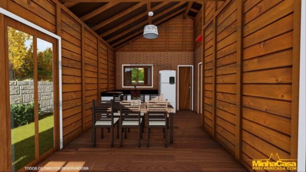 Casa de madeira Modelo Araquari 11