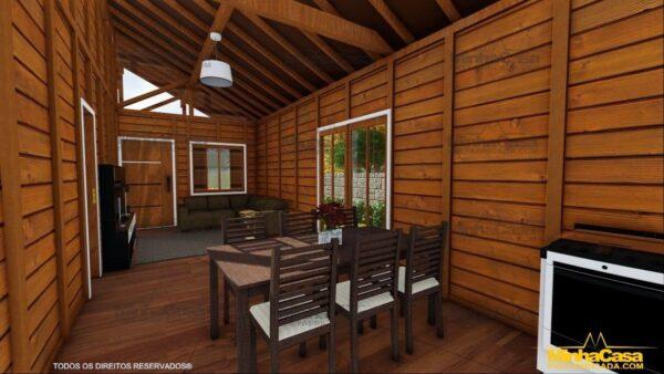Casa de madeira Modelo Araquari 13