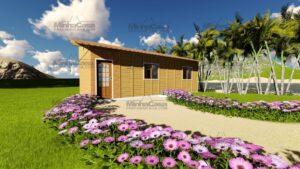 Minha casa pré fabricada modelo Canelinha 02