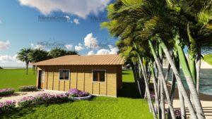 Minha casa pré fabricada modelo Canelinha 04
