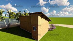 Minha casa pré fabricada modelo Canelinha 06