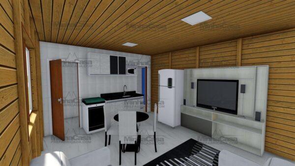 Minha casa pré fabricada modelo Canelinha 07