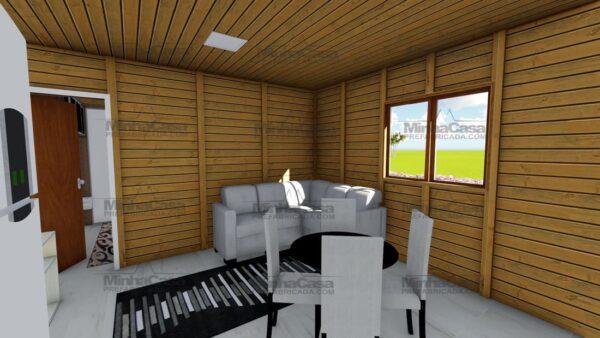 Minha casa pré fabricada modelo Canelinha 08