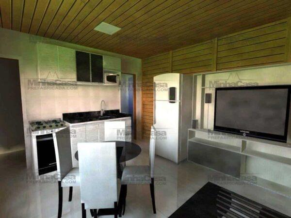 Minha casa pré fabricada modelo Canelinha 10