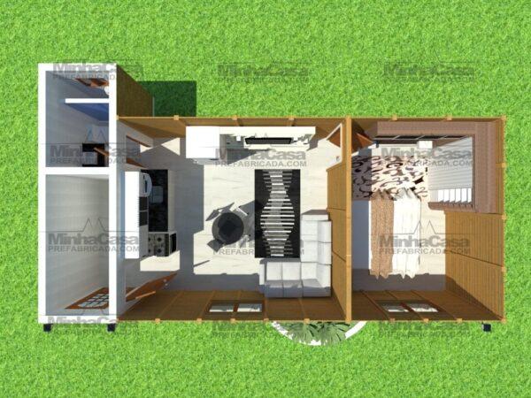 Minha casa pré fabricada modelo Canelinha 11