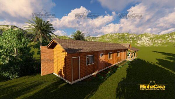 Minha casa pré fabricada modelo Cascavel 08
