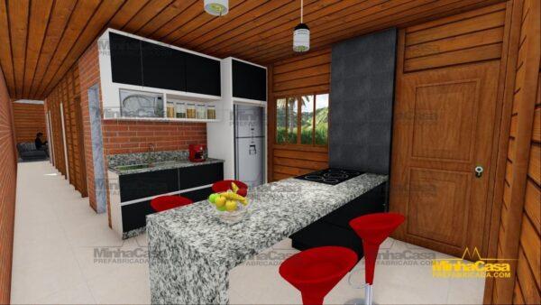 Minha casa pré fabricada modelo Cascavel 14