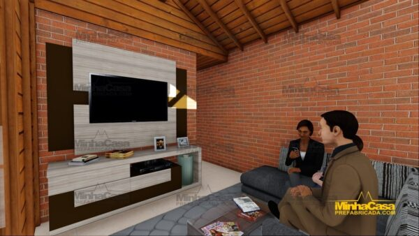 Minha casa pré fabricada modelo Cascavel 20
