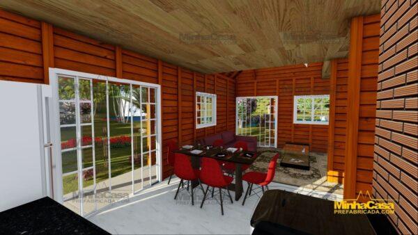 Minha casa pré fabricada modelo Chapecó 11