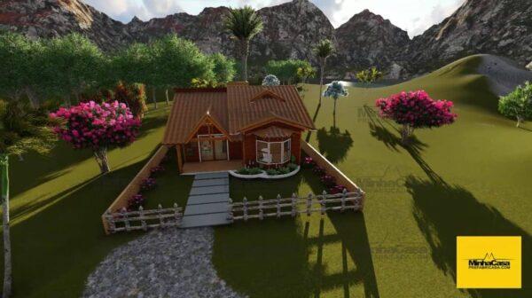Minha casa pré fabricada modelo Criciúma II 01