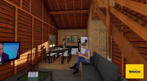 Minha casa pré fabricada modelo Criciúma II 06