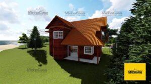 Minha casa pré fabricada modelo Curitiba 01