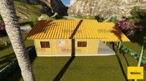 Minha casa pré fabricada modelo Floripa III 04