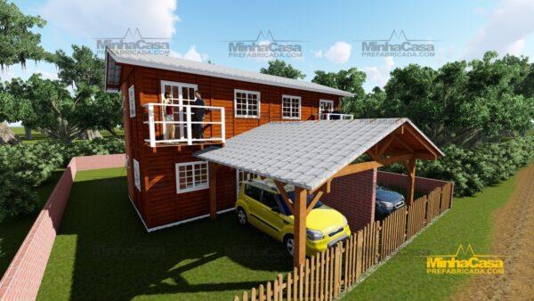 Minha casa pré fabricada modelo Geminado 02