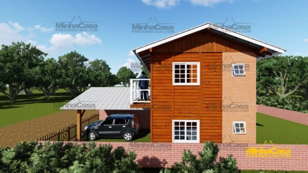 Minha casa pré fabricada modelo Geminado 07