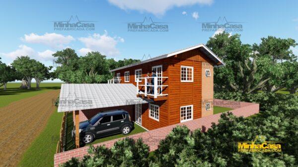 Minha casa pré fabricada modelo Geminado 08