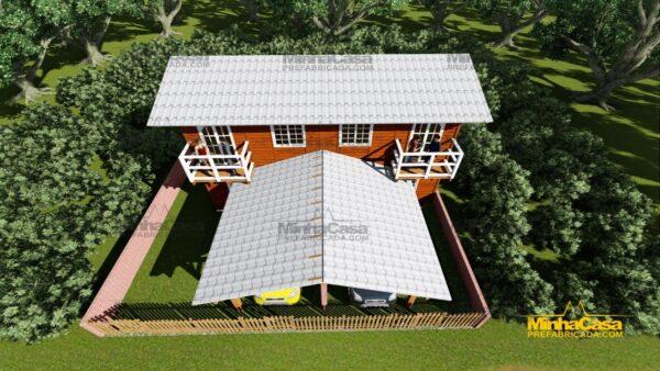 Minha casa pré fabricada modelo Geminado 12