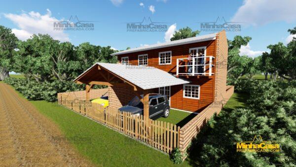 Minha casa pré fabricada modelo Geminado 14