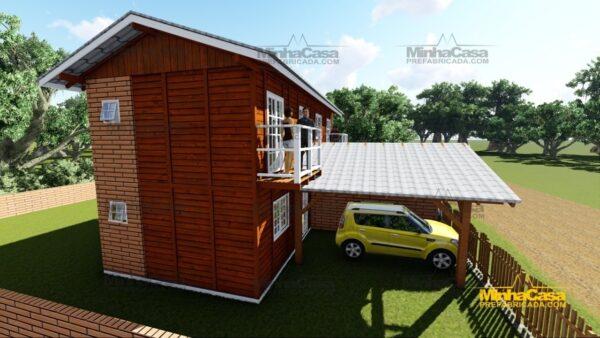 Minha casa pré fabricada modelo Geminado 16