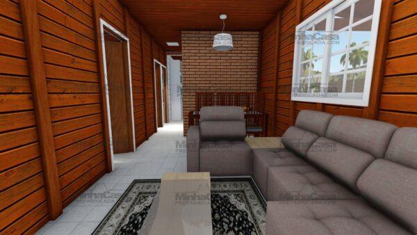 Minha casa pré fabricada modelo Itapema 15