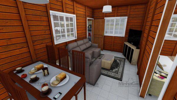 Minha casa pré fabricada modelo Itapema 16