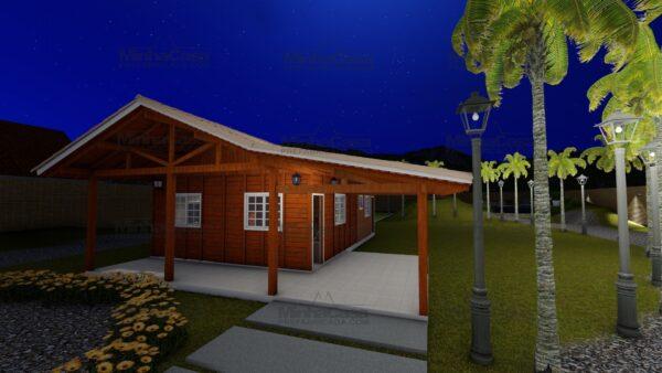 Minha casa pré fabricada modelo Itapema 25