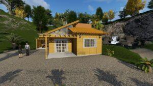 Minha casa pré fabricada modelo Jambeiro 01