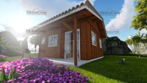 Minha casa pré fabricada modelo Joinville 01