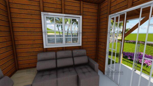 Minha casa pré fabricada modelo Joinville 12