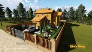 Minha casa pré fabricada modelo Minas Gerais 01
