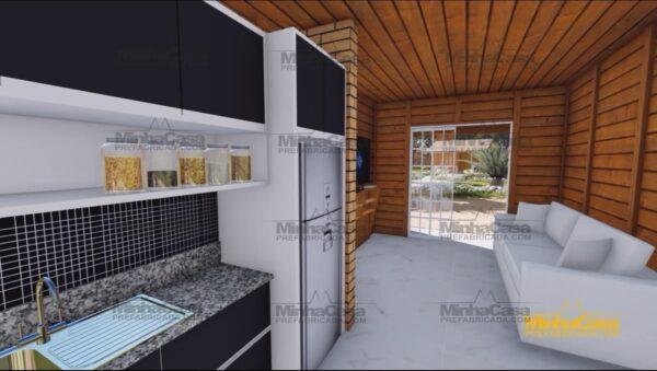 Minha casa pré fabricada modelo Palhoça 02