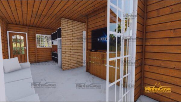 Minha casa pré fabricada modelo Palhoça 03