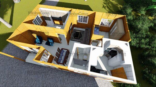 Minha casa pré fabricada modelo Paranaguá 09