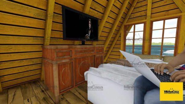 Minha casa pré fabricada modelo Pomerode 07
