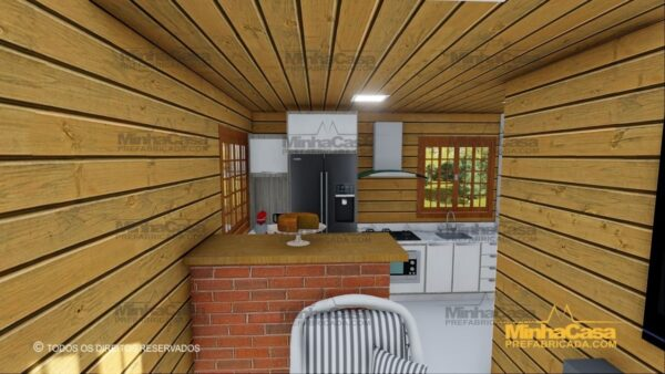 Minha casa pré fabricada modelo Pop 1.0 12