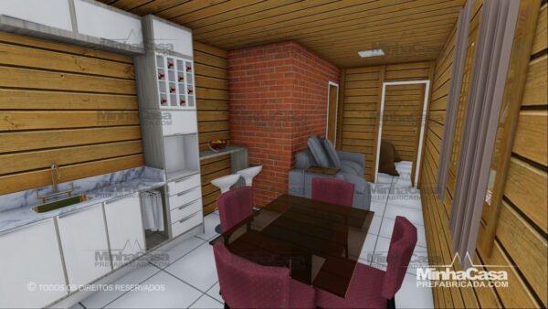 Minha casa pré fabricada modelo Pop 1.1 09
