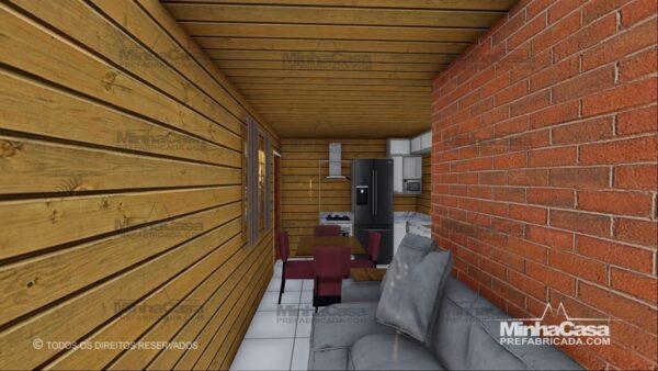 Minha casa pré fabricada modelo Pop 1.1 11