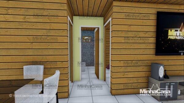 Minha casa pré fabricada modelo Pop 3.0-77,85M² 10