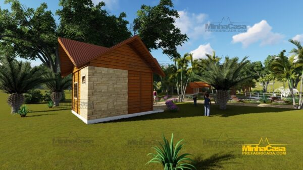 Minha casa pré fabricada modelo Pousada III 03