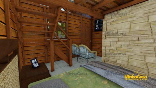 Minha casa pré fabricada modelo Pousada III 14