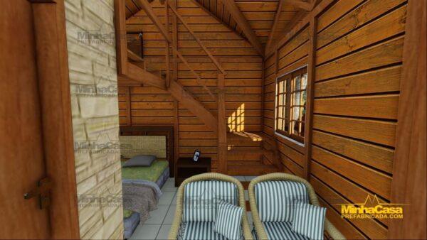 Minha casa pré fabricada modelo Pousada III 19
