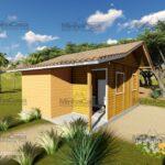 Minha casa pré fabricada modelo Tabuleiro 01