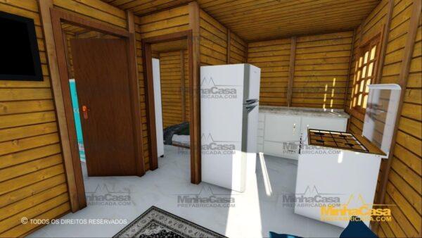 Minha casa pré fabricada modelo Tabuleiro 03