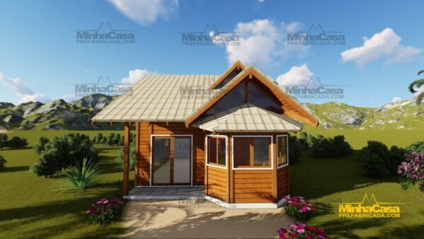 Minha casa pré fabricada modelo Tijucas 01